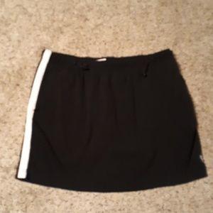 Black skirt with white stripe
